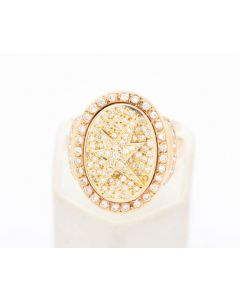 Iced Out Diamond Ring 117 Brillianten 1,10ct