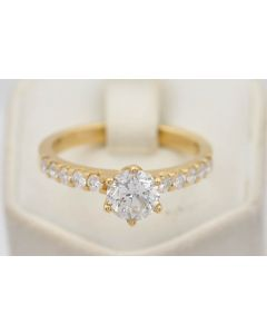 Damen Ring mit Diamanten