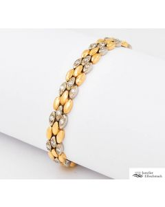 Fred Armband Gelbgold Weißgold 750 mit Brillanten bicolor