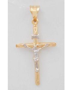 Kreuz 14 K Gelbgold / Weißgold 2,0 Gramm