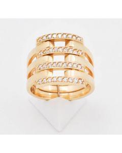 Ring Zirkonia 14 K Gelbgold 6,6 Gramm Rg.58.5