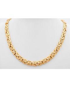 Halskette gedrückte Königskette  14 K Gelbgold 46,5 cm 23,6 Gramm