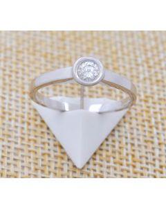 Brillant Ring 14 k Weißgold 2,4 g 56