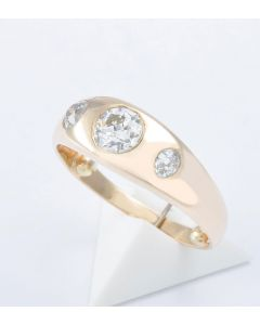 Brillantring 585 Gelbgold 3 Brillanten 0,92 ct