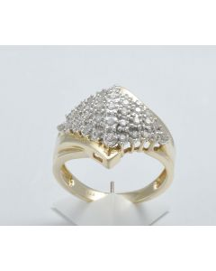 Diamantring 14K Gelbgold 35 Diamanten 0,25 ct