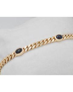 Armband  Saphir Cabochon 14K Gelbgold 5 Saphire 2,5ct