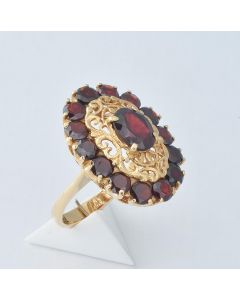 Granat Ring 18K Gelbgold