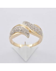 Diamantring 585 Gelbgold 62 Diamanten 0,40ct