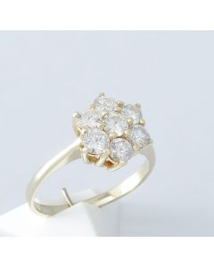 Brillantring 585 Gelbgold Brillanten 1,12 ct