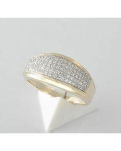 Diamant Ring 333 Gelbgold 95 Diamanten