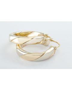 Ohrringe bicolor 14K Gold