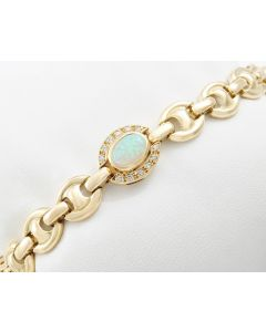Opal Armband 750 Gold Brillanten 0,20 ct