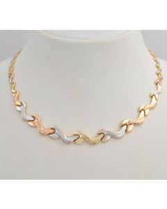 Halskette tricolor 18K Gold 41cm