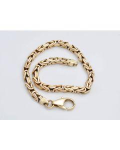 Königsarmband 14K Gelbgold 20,5 cm