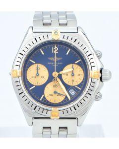 Breitling Chronomat Sextant Quarz B55046 Stahl Gold Pilotband Chronograph