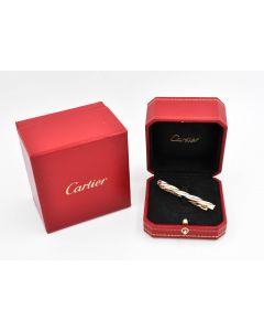 Cartier Trinity Krawattenklammer-Krawattennadel 12,2 Gramm 750 Gelbgold Rosegold und Weißgold