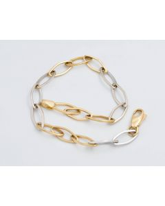 Armband bicolor 14K Gold 18,5 cm