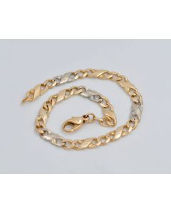 Armband bicolor 14K Gold 21cm