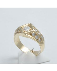 Brillantring 14K Gelbgold 0,62 ct.