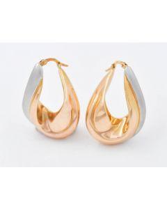 Ohrringe Bicolor 14 K Gelb/Weißgold 4,6 Gr.