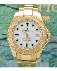 Rolex Yachtmaster 18k Gold 35mm Medium 68628