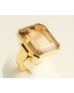 Citrin Ring 750 Gold