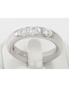 Wempe Brillant Ring 18K Weißgold 3 Brillanten 0,75ct