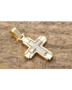 Anhänger Kreuz 14K Gelbgold