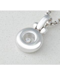 Chopard Happy Diamond 79/2864-20 Anhänger & Kette 18k Weißgold