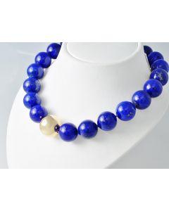 Lapis Lazuli Halskette 18K Goldverschluss