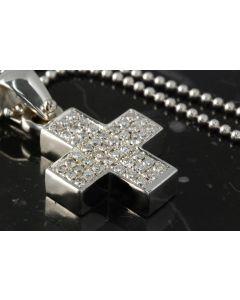 Anhänger Kreuz Brillanten 750 Weißgold Halskette  Anhänger Kreuz Brillanten 750 Weißgold Halskette