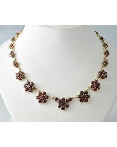 Granat Halskette 333 Gelbgold 46,5 cm