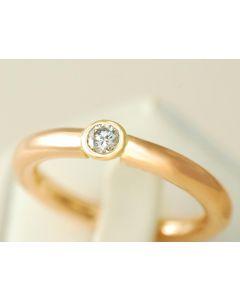 Rotgold Brillant Ring 750 Rotgold