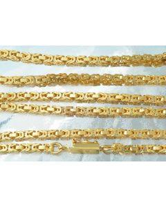 Königskette 585 Gold 91cm 3mm