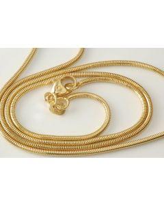 Halskette Schlangenmuster 585 Gold 39 cm TOP