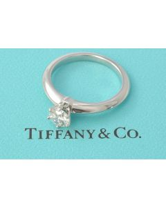 Tiffany & Co. Verlobungsring 950 Platin Solitär Brillant 0,50 Karat