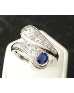 Saphir Diamantring