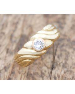 Brillant Ring 14 k Gelbgold 0,25 ct VS2 H 4,4 g Gr. 58