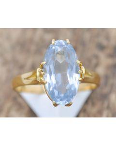 Ring Spinnell ca. 5,1 ct 18 k Gelbgold 4,6 g  Größe 60