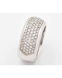 Christ Brillant Ring 14K Weissgold 99 kl. Diamanten zus. 0,60 ct IF H 9,7 g Gr. 56