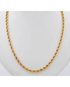 Kordelkette Halskette Kette 14 K Gelbgold 8,5 g. 50 cm