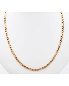 Figarokette Halskette Kette 14 K Gelbgold 13 g. 52 cm