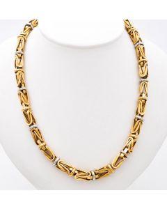 Königskette Halskette Kette 14 K Bicolor 36 g. 67 cm