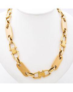 Plattenkette Halskette Kette 14 K Gelbgold 130 g. 63 cm