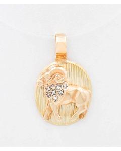 Anhänger Widder 14K Gelbgold 8,4 g 7 kleine Diamanten ca 0,05 ct