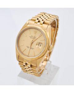 Rolex Datejust 16018 Automatik 18K Gelbgold 36mm Jubilee Band 3035 BJ 1978
