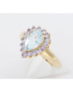 Aquamarin Ring  585 Gelbgold