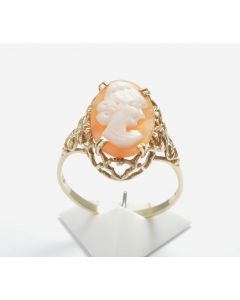 Kamee Ring 14 K Gelbgold