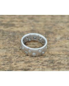 18k Weißgold Diamant Ring