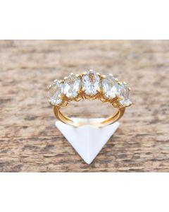 Aquamarin Ring 14 k Gelbgold 3,5 g Größe 54
